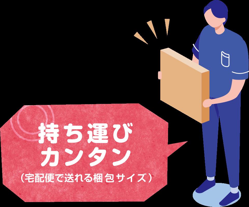 持ち運び簡単(宅急便で送れる梱包サイズ)